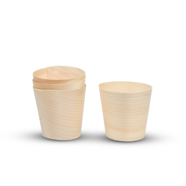 Image of Disposable Wood Cups 100/pack