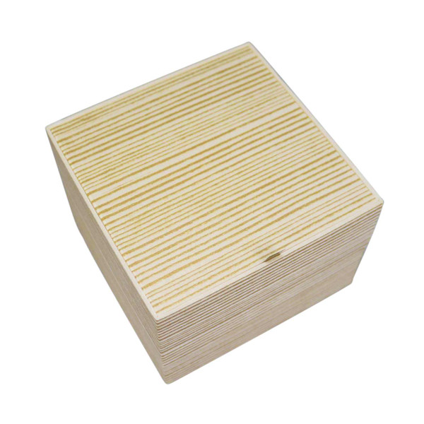 Image of Two Tiered Disposable Natural Take Out Square Box 1
