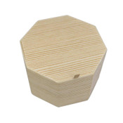 Two Tiered Disposable Natural Take Out Hexagon Box