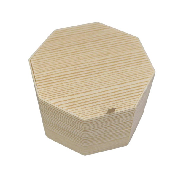 Image of Two Tiered Disposable Natural Take Out Hexagon Box 1