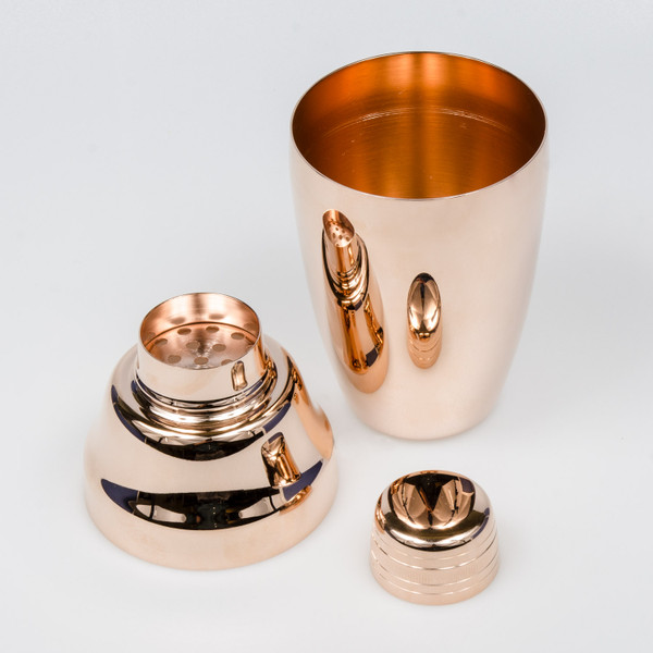Image of Yukiwa Stainless Steel Rose Gold Plated Cobbler Cocktail Shaker 3