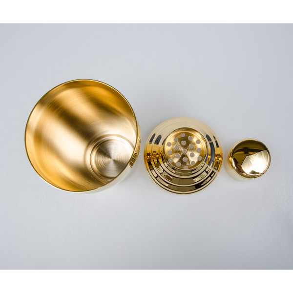 Image of Yukiwa Stainless Steel Gold Plated Cobbler Cocktail Shaker 2