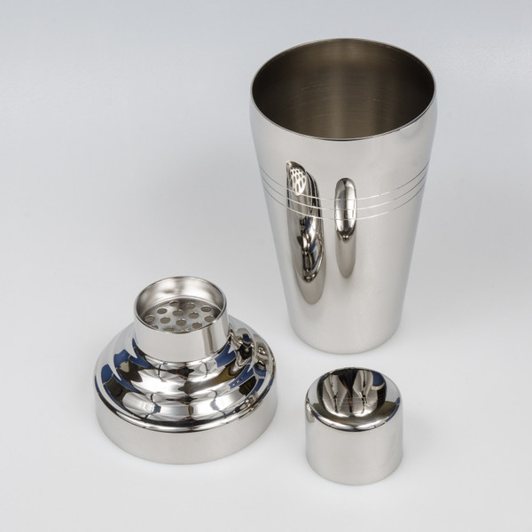Image of Yukiwa Baron Micron Bubble Mirror Finished Stainless Steel Cobbler Cocktail Shaker 2