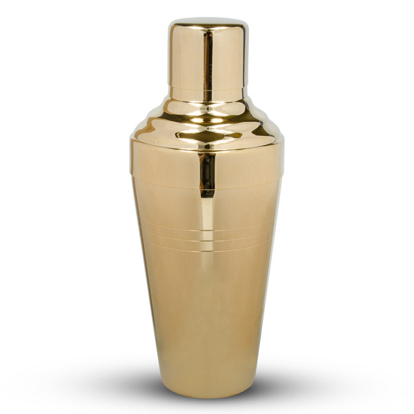Image of Yukiwa Baron Stainless Steel Gold Plated Cobbler Cocktail Shaker 1