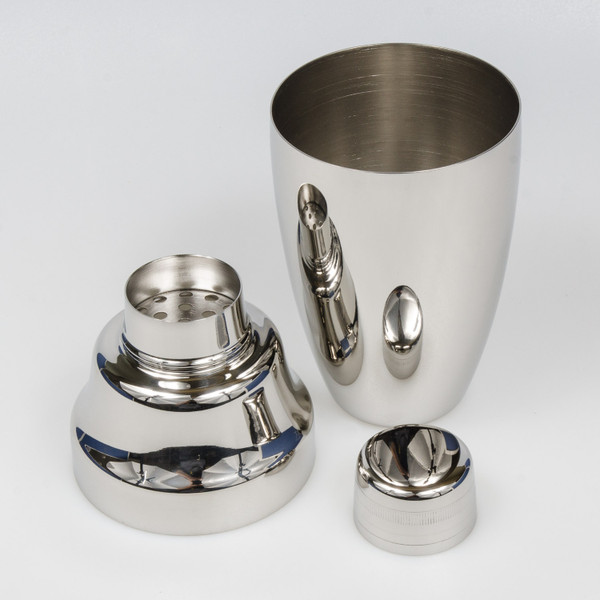 Image of Yukiwa Micron Bubble Mirror Finished Stainless Steel Cobbler Cocktail Shaker 2