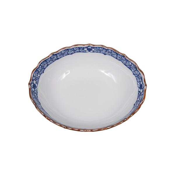 Image of Sometsuke Blue Frilled Edge Bowl 2