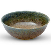 Brown Mosaic Blue Rimmed Bowl