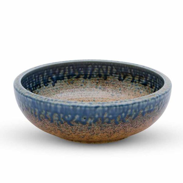Image of Ainagashi Blue Brown Bowl 1
