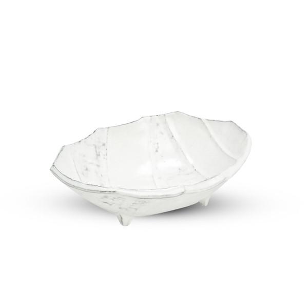 Image of Irregular Shaped White Footed Bowl 1