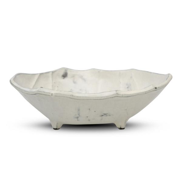 Image of Irregular Shaped White Footed Bowl 2