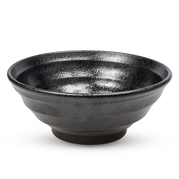 Image of Ripple Onyx Black Round Bowl 1