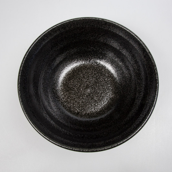 Image of Ripple Onyx Black Round Bowl 2