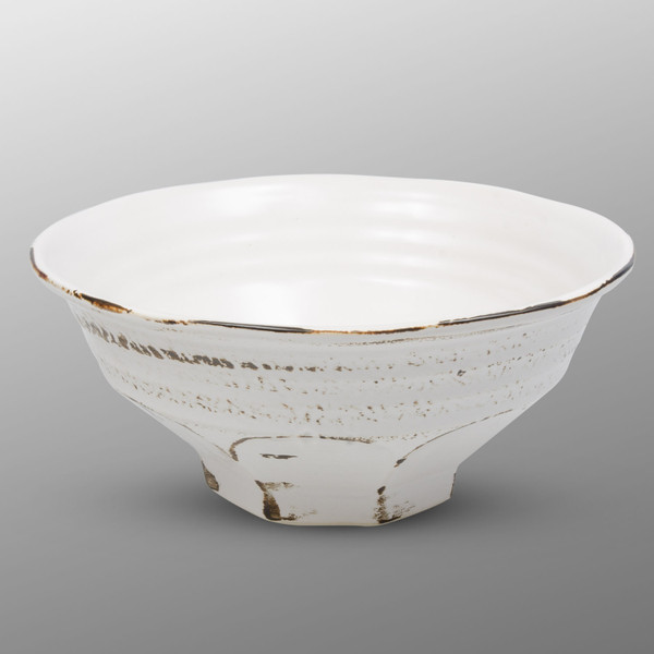 Image of Charred White Round Ramen Bowl 1
