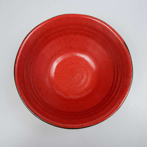 Image of Charred Persian Red Round Ramen Bowl 2