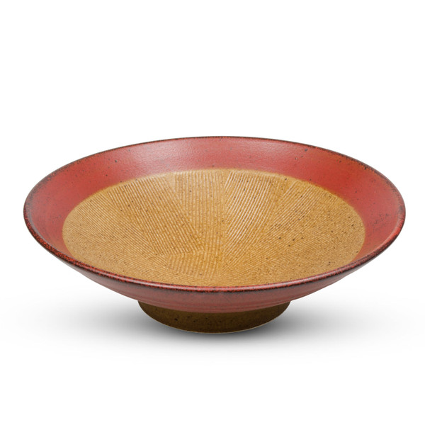 Image of Kurumi Red Round Ramen Bowl 1