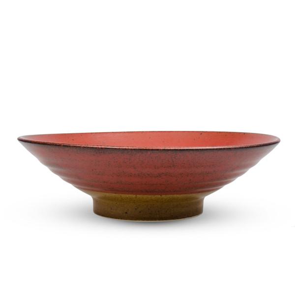 Image of Kurumi Red Round Ramen Bowl 2