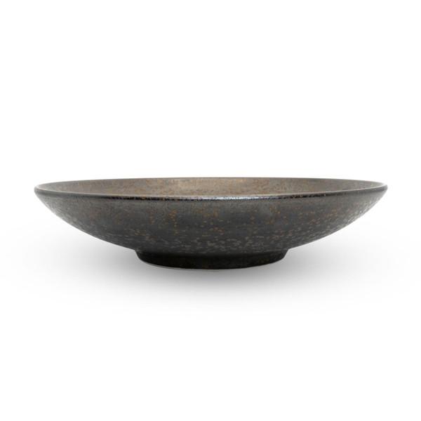 Image of Miroku Black Coupe Shallow Bowl 2