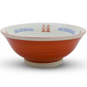 White and Red Ramen Bowl