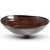 Amber Brown Oval Bowl