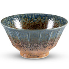 Ainagashi Blue Brown Round Bowl