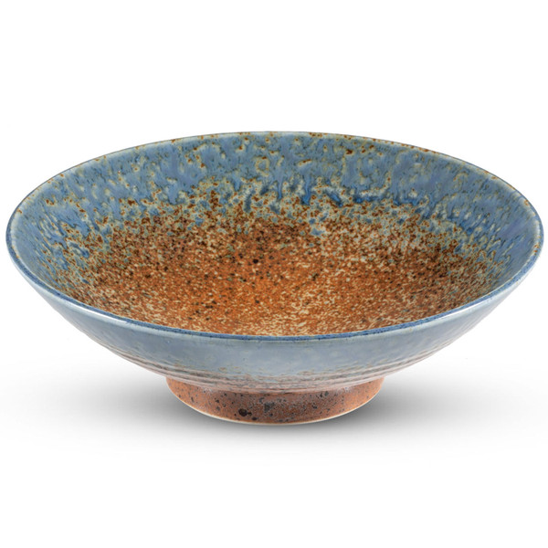 Image of Ainagashi Blue Brown Round Bowl 1