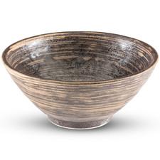 Uzumaki Dark Brown Round Bowl
