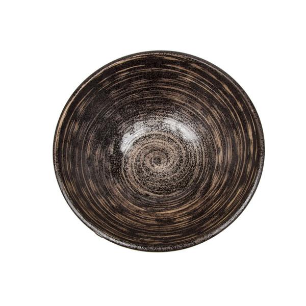 Image of Uzumaki Dark Brown Round Bowl 2