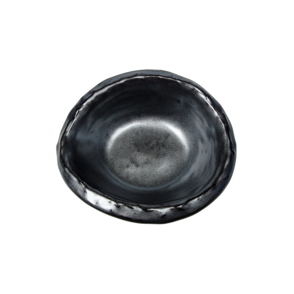 Image of Tessa Black Gray Round Bowl 2