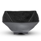 Black Square Footed Bowl