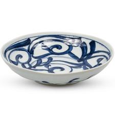 Bikoyaki Blue Round Bowl