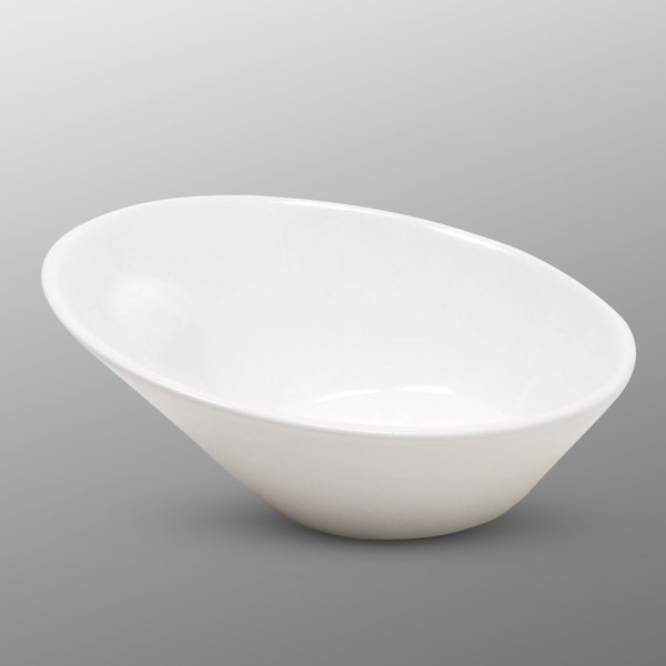 Image of Korin Durable White Slanted Bowl