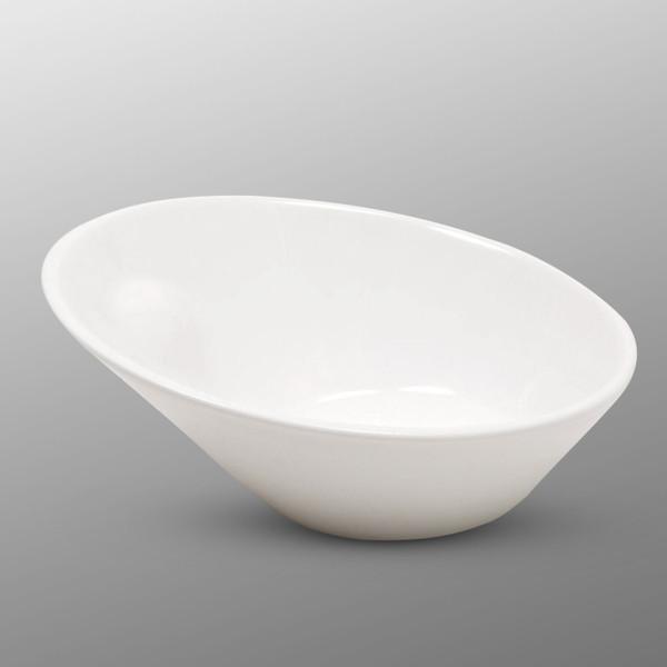 Image of Korin Durable White Large Slanted Bowl
