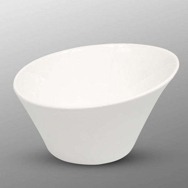 Image of Korin Durable White Round Slanted Bowl 1