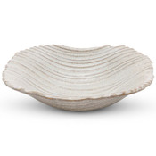 Mokume Beige Abstract Bowl