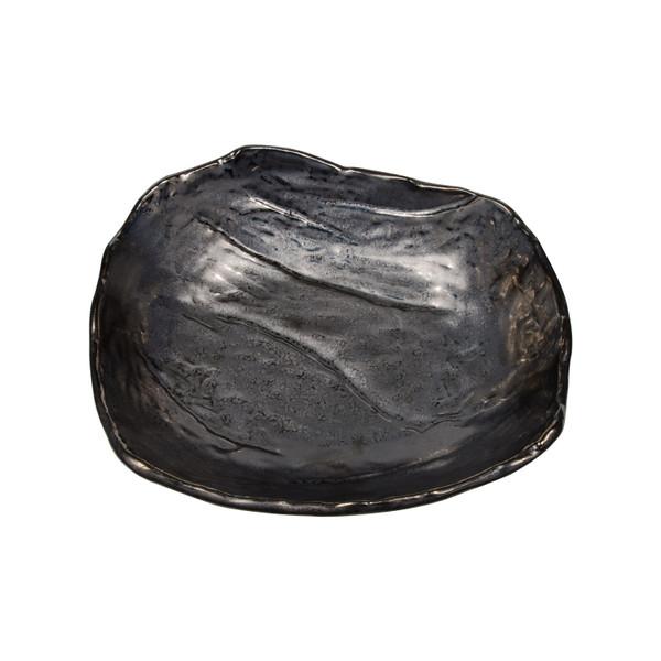 Image of Metallic Slate Gray Abstract Bowl 2