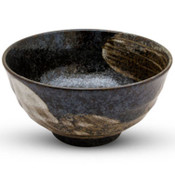 Black Brushstroke Mottled Bowl