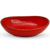 Siena Red Oval Bowl
