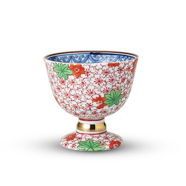 Image of Shunju Red Momiji Footed Cup