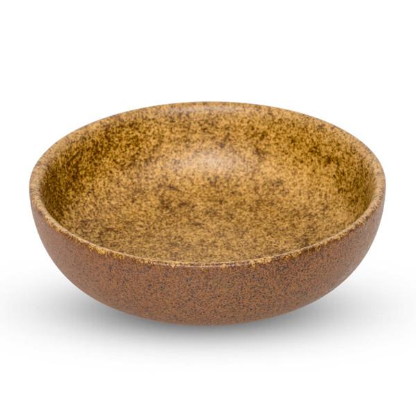 Image of Eki Brown Round Shallow Bowl