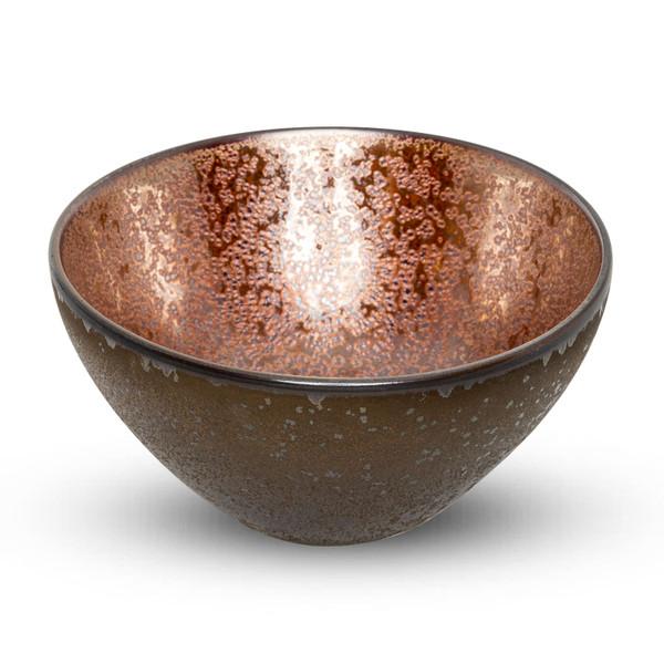 Image of Metallic Brown Round Bowl
