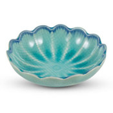 Toruko Turquoise Flower Bowl