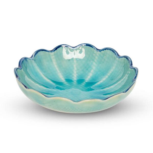 Image of Toruko Turquoise Flower Bowl 1