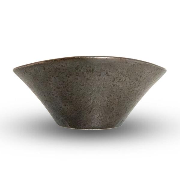 Image of Kujaku Gunmetal Black Oval Bowl 2