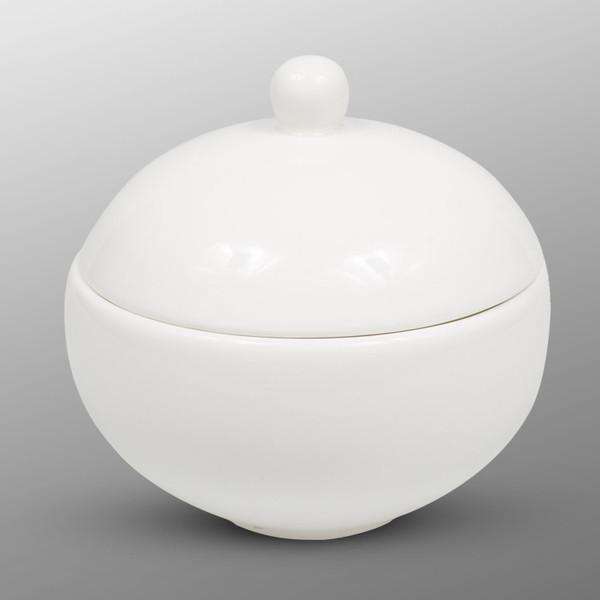 Image of Korin Durable White Round Lidded Bowl 1