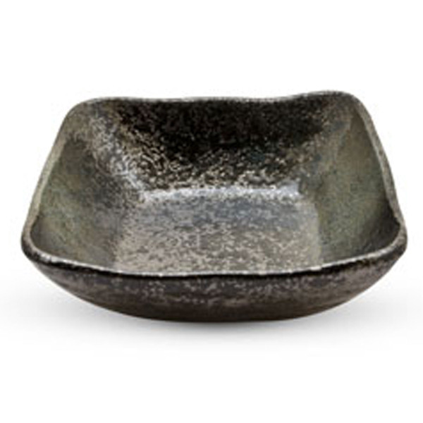 Image of Black Moss Patterned Square Bowl