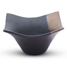 Kinsai Gold Curved Corner Bowl