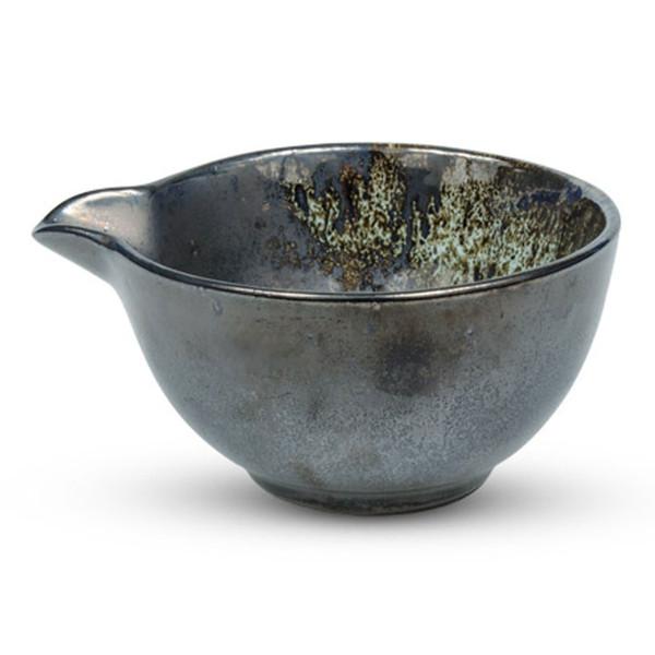 Image of Metallic Slate Gray Spouted Bowl 1