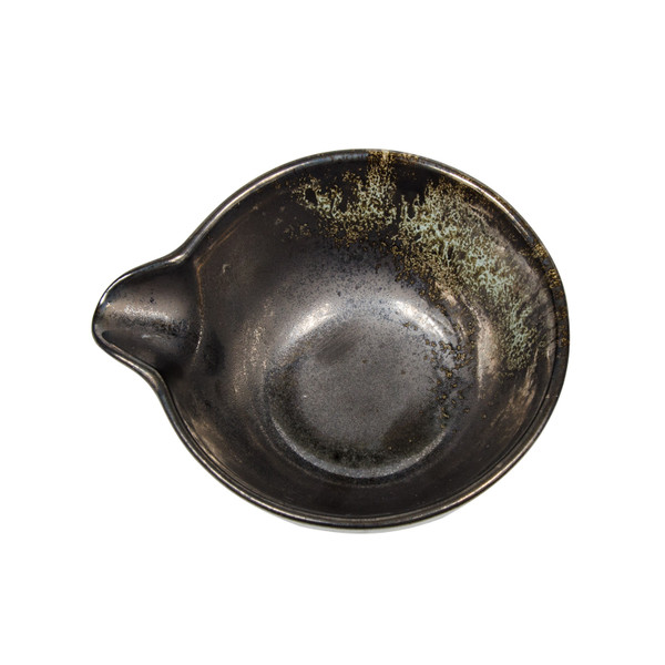 Image of Metallic Slate Gray Spouted Bowl 2