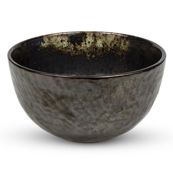 Image of Metallic Slate Gray Round Bowl 1