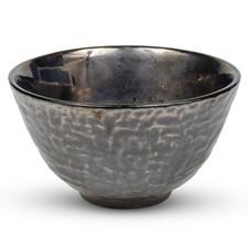 Metallic Slate Gray Round Rice Bowl
